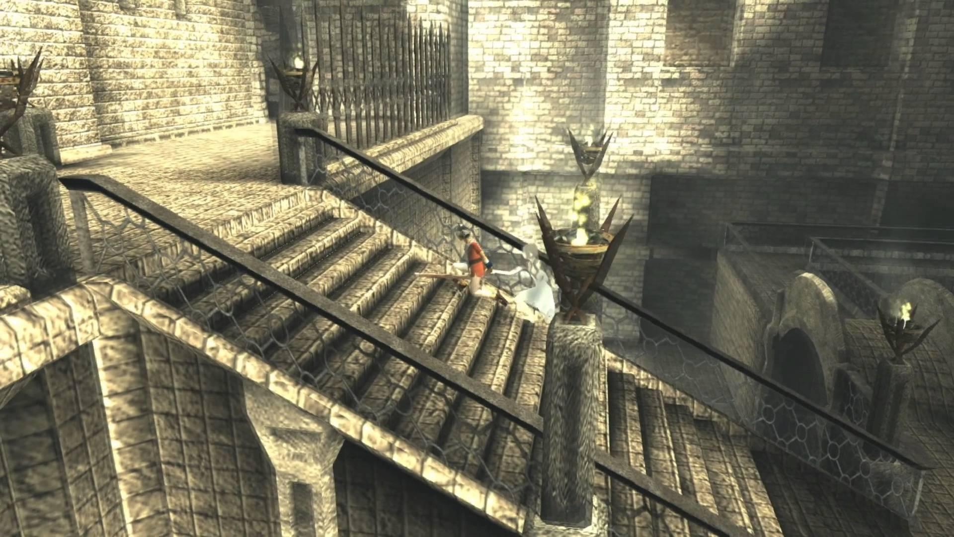 In Ico von 2001 muss man gemeinsam mit einem Mädchen versuchen aus einer einsamen Burg zu entkommen. (Bild: Sony)