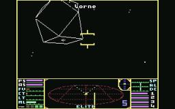 Eine Coriolis Raumstation in Elite, oder nur eine Handvoll Linien? (Bild: Firebird)