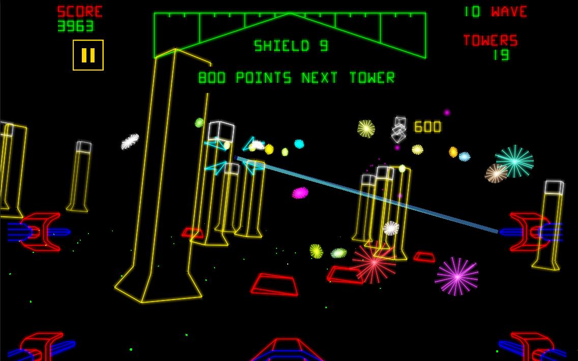 """Luke Skywalker erreicht den Todesstern. """"Plötzlich erschienen Lasertürme und Geschützbunker auf der Bildfläche und eröffneten augenblicklich das Feuer."""" (Bild: Atari)"""