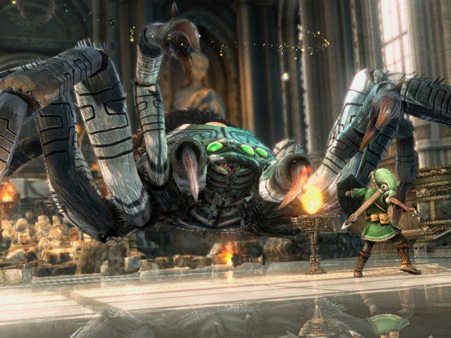 Zelda im Kampf gegen eine Riesenspinne. (Bild: Gamer's Resource)