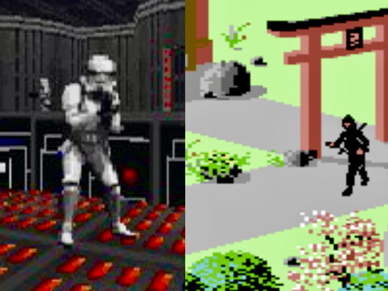 Von weit entfernten Galaxien bis zurück ins mittelalterliche Japan, vom Ego-Shooter Dark Forces zum isometrischen Sammel-Abenteuerspiel The Last Ninja - wer beim Spielen scheitert, verliert seine Existenz in virtuellen Welten. (Bild: Andreas Wanda)