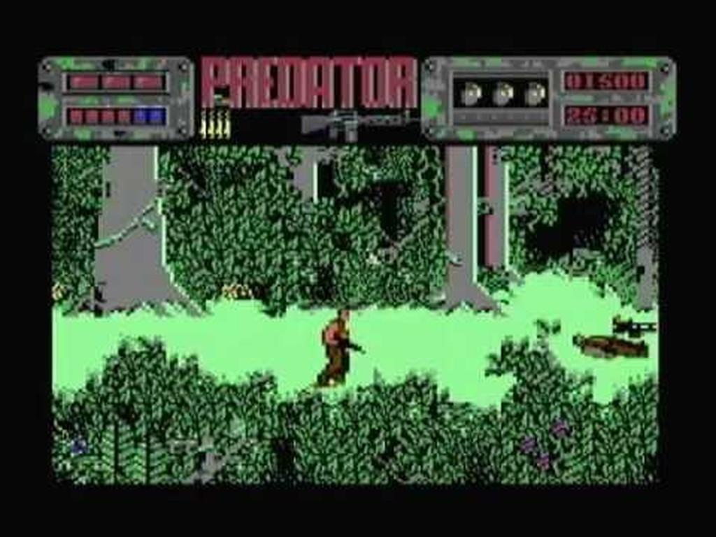 The Last Ninja im Geiste: Predator, die Filmumsetzung von System 3, brachte nicht nur Pixelbizeps sondern auch Sorgenfalten, denn mit jedem Schritt erkannte der Computerspieler, eher nicht so gestählt zu sein wie das steirische Filmvorbild - mehr Tode als auf der Leinwand garantiert. (Bild: Andreas Wanda)