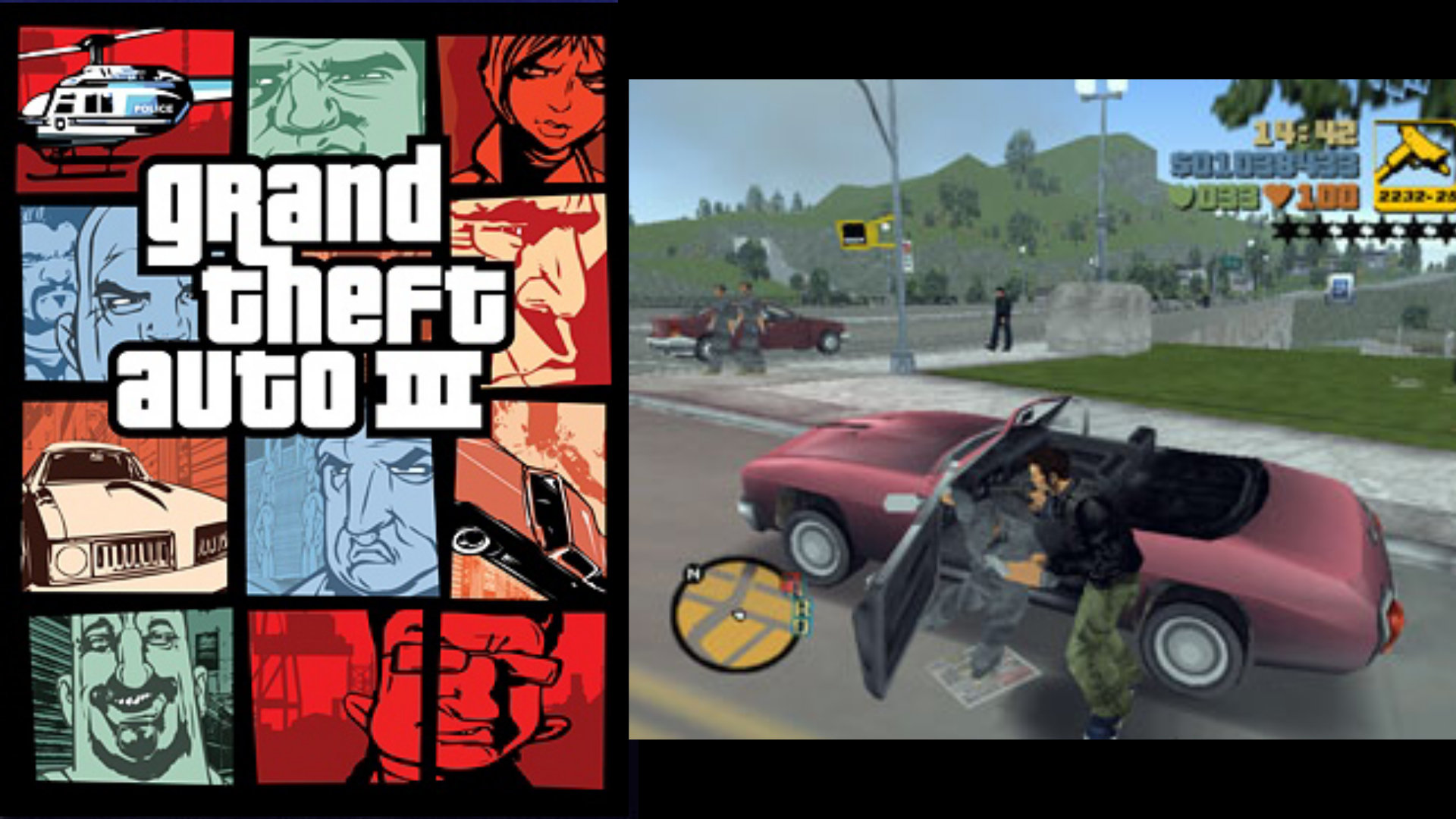"""Claude eilt durch das fiktionale Liberty City wie er und der Spieler wollen: Grand Theft Auto III wartet mit einer filmreifen Handlung auf, aber der wahre Reiz war und ist die offene Welt und das Ausleben ihrer vielen """"Gestaltungsmöglichkeiten"""". (Bild: Andreas Wanda)"""