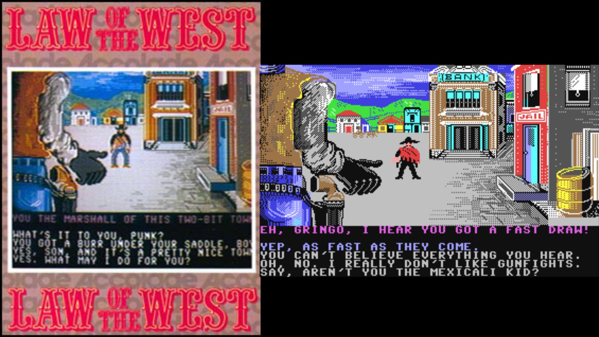 Accolades Law of the West ließ Joystick-Sherriffs einen Tag in einer Westernstadt durchleben, Tod durch Bleivergiftung inbegriffen - durch den flotten (und mäßig umfangreichen) Spielverlauf stört Permadeath kaum, denn sofort kann der Computer-Sheriff von vorne beginnen. (Bild: Andreas Wanda)