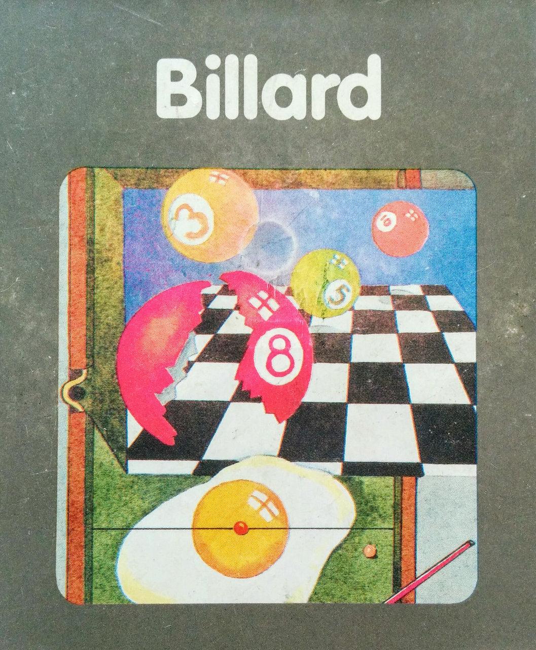 Cover des Spielmoduls, Billard, Quelle, 1983. (Bild: Florian Weber)