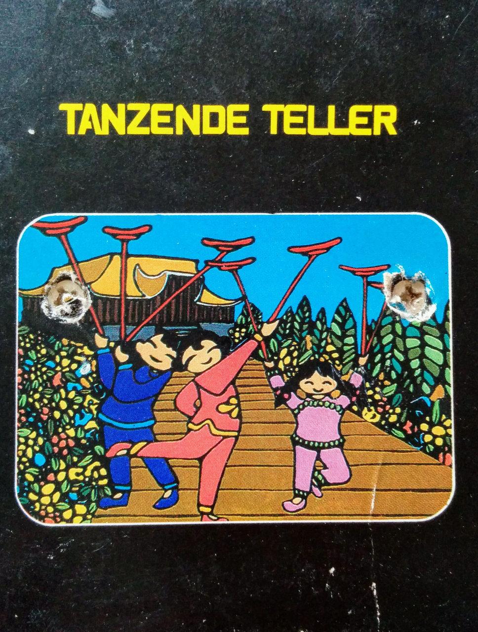 Cover des Spielmoduls, Tanzende Teller, Quelle, 1982. (Bild: Florian Weber)