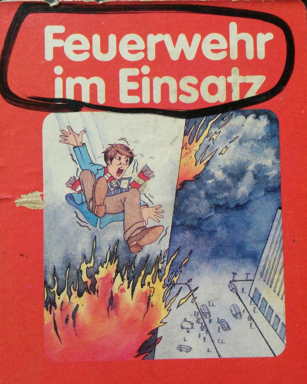 Cover des Spielmoduls, Feuerwehr im Einsatz, Quelle, 1983. (Bild: Florian Weber)
