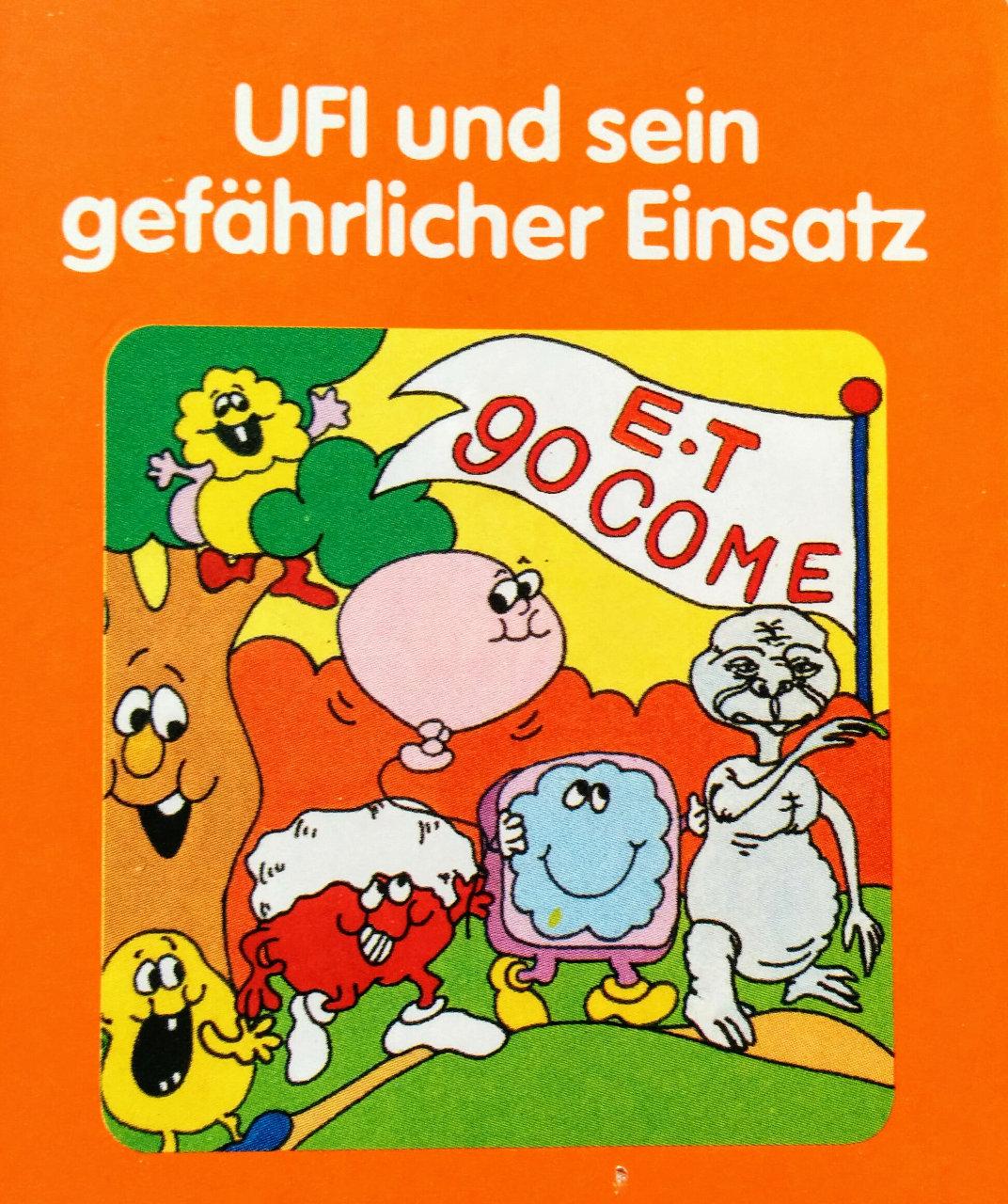 Cover des Spielmoduls, UFI und sein gefährlicher Einsatz, Quelle, 1983. (Bild: Florian Weber)