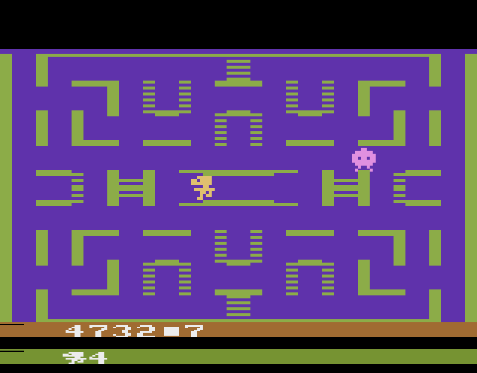 Screenshot von Go Go Home Monster, Home Vision, 1983. (Bild: Florian Weber)