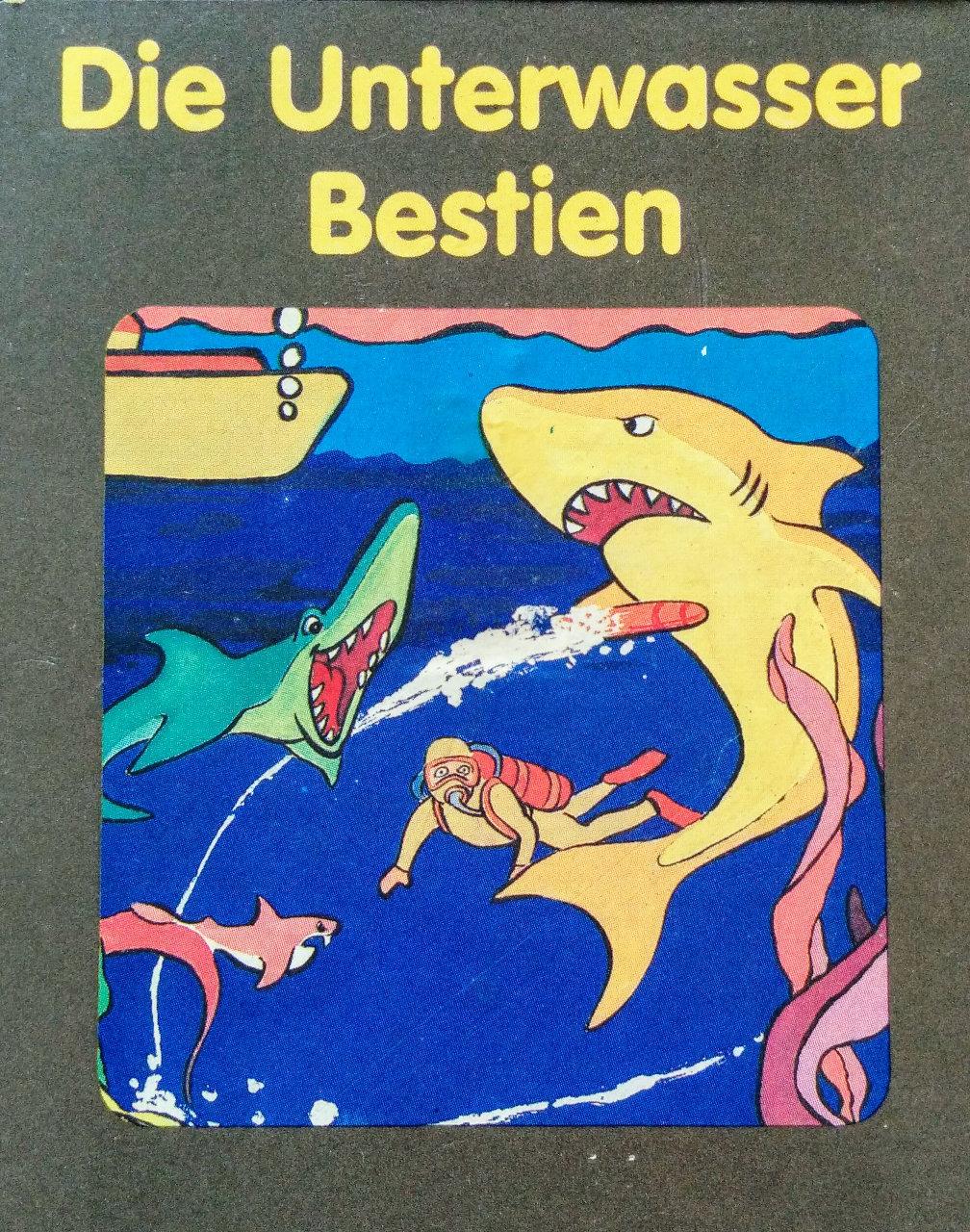 Cover des Spielmoduls, Die Unterwasser Bestien, Quelle, 1983. (Bild: Florian Weber)