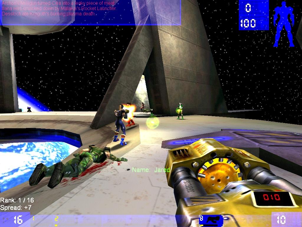 Gefecht im Weltraum: Space Noxx bietet ein Arena-artiges Spielfeld. (Bild: Andre Eymann)