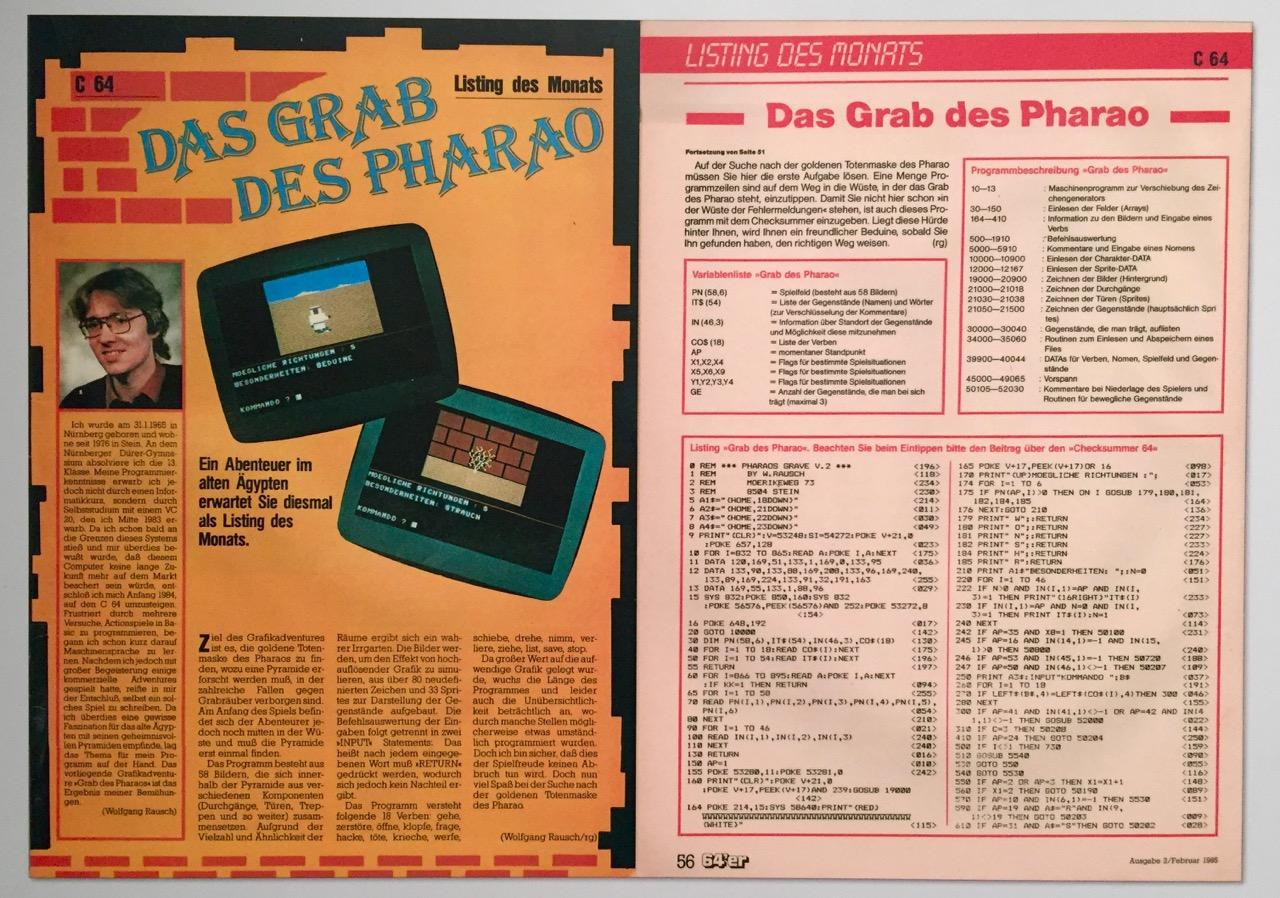 "Listing des Monats: ""Das Grab des Pharao"" von Wolfgang Rausch. (Bild: André Eymann)"