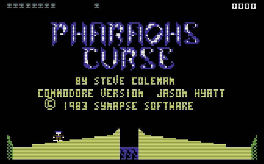 Das Abenteuer beginnt: Der Startbildschirm von Pharaoh's Curse für den Commodore 64. (Bild: Synapse Software)