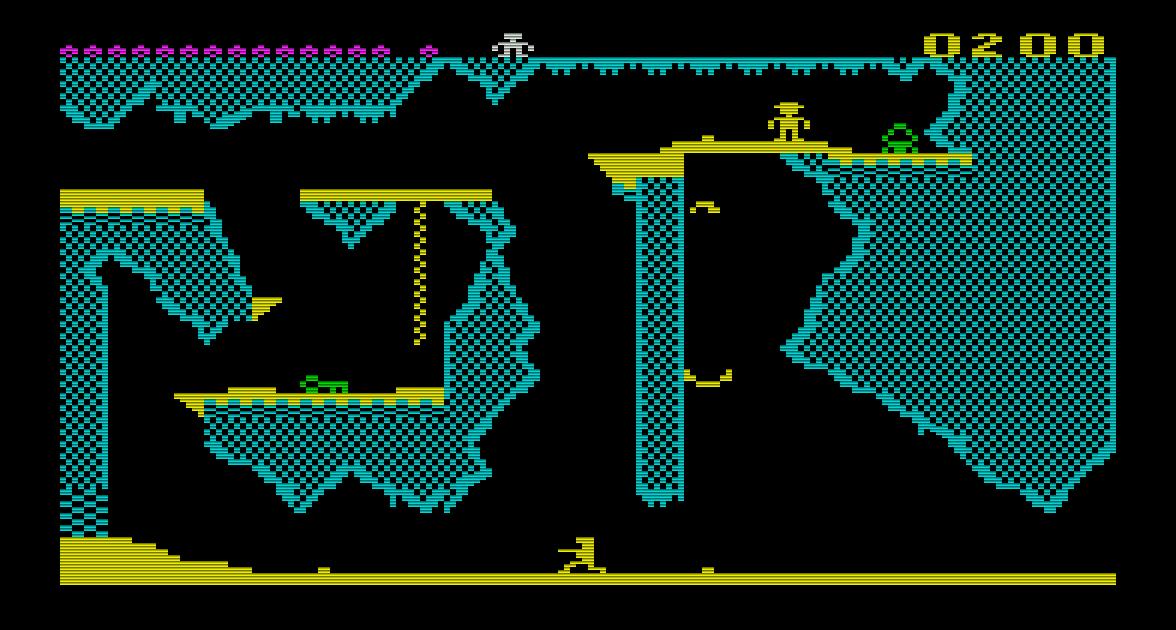 Die Commodore VC 20 Fassung von Pharaoh's Curse wurde ebenfalls bereits 1983 veröffentlicht. (Bild: Alick Dziabczenko)