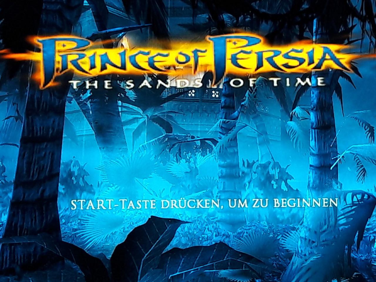 Der Startbildschirm von Prince of Persia: The Sands of Time. (Bild: Michaela Rücker)
