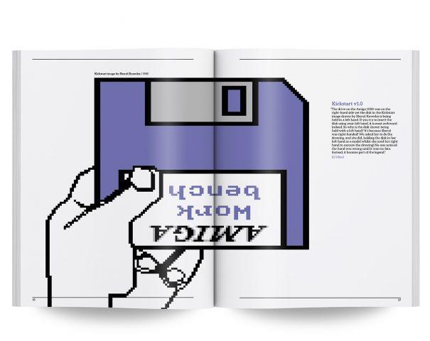 Diskette rein und los geht´s. Aber nicht alle Amiga-Freunde sind Linkshänder. (Bild: Bitmap Books)