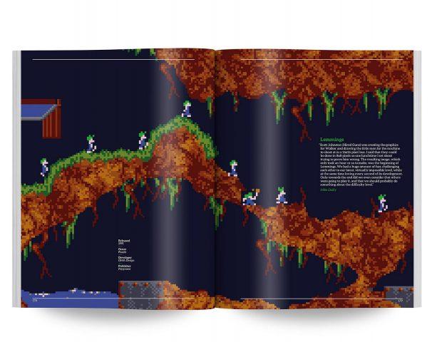 Wer kennt die grünhaarigen, suizidgefährdeten Lemminge nicht? Die sind untrennbar mit dem Amiga verbunden. Für immer. (Bild: Bitmap Books)