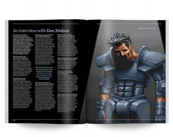 Dan Malone war nicht nur an der Entwicklung von Speedball 2 beteiligt. Sein erstes Spiel war das großartige Cauldron auf C64 und CPC aus dem Jahr 1985.