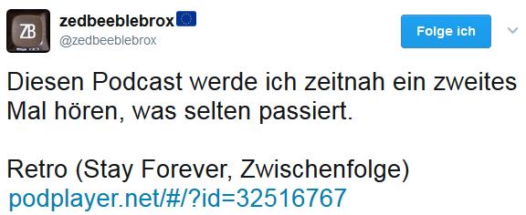 """Stephan Ricken via Twitter zur Zwischenfolge """"Was ist eigentlich Retro?"""""""