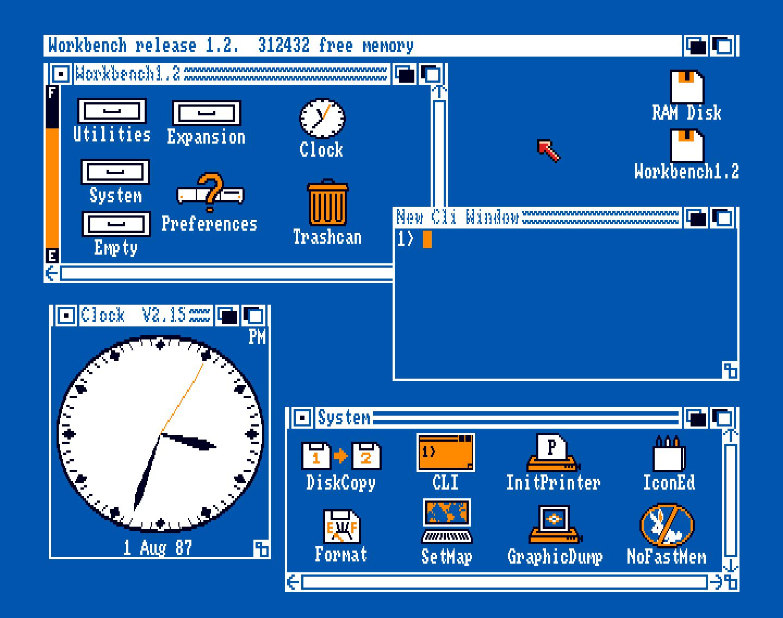 Die Amiga Workbench war die fensterorientierte Benutzeroberfläche des Amiga, die mit einer Maus gesteuert werden konnte. (Bild: Stephan Ricken)