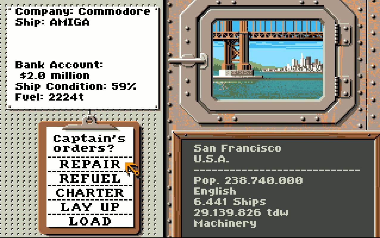 Gerade erst gebraucht gekauft, muss der Kahn erst mal ins Trockendock. Mit einem Schiffszustand von 59% sollte man gar nicht erst auslaufen. (Bild: Stephan Ricken)