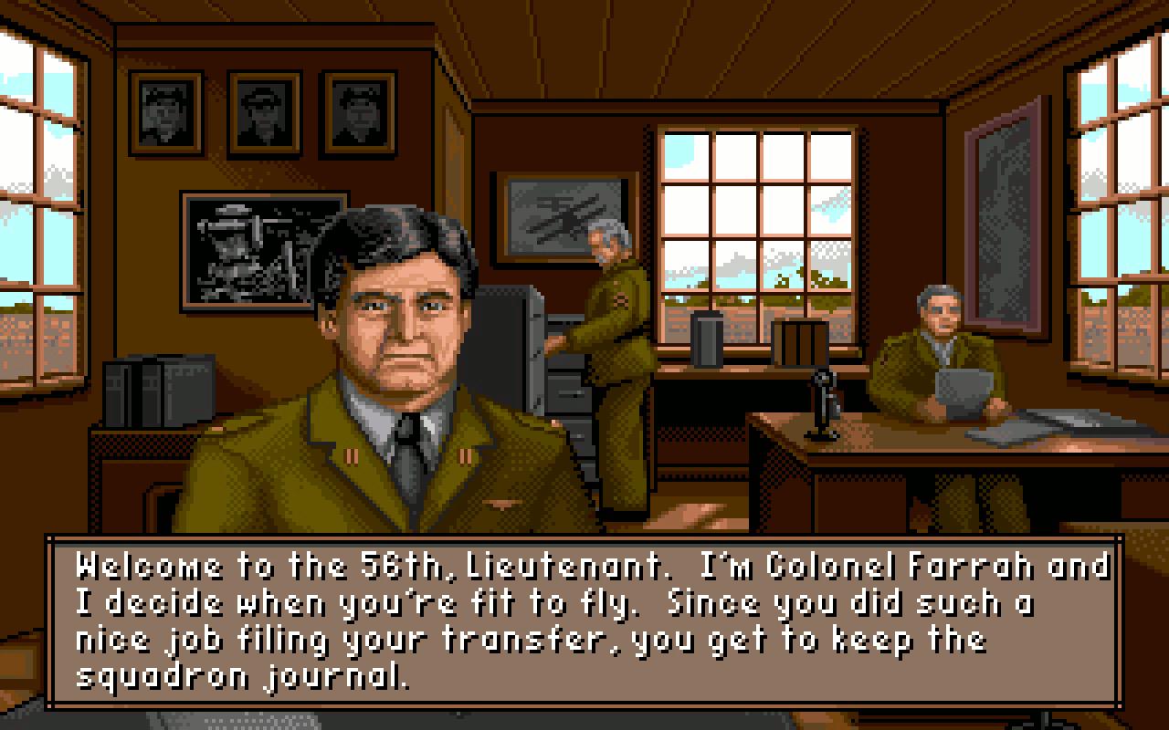 Colonel Farrah war mehr Vaterfigur als Vorgesetzter für den Spieler und stand immer mit guten Ratschlägen zur Seite. (Bild: Stephan Ricken)