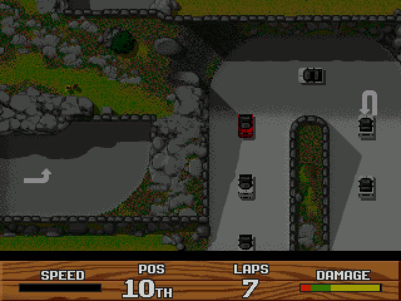 Im Singleplayer-Modus hatte man naturgemäß einen besseren Überblick über die Rennstrecke und die eigene Platzierung im Feld. (Bild: Stephan Ricken)