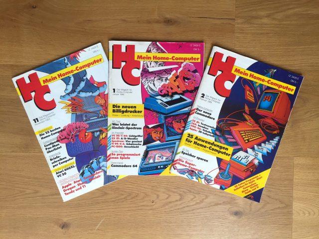 """Verschiedene Ausgaben der """"HC"""" von 1983 und 1984. (Bild: André Eymann)"""