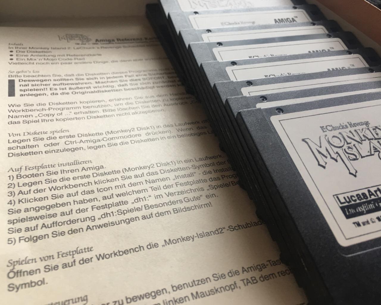 Monkey Island 2: LeChuck's Revenge - 11 Disketten und ein A500