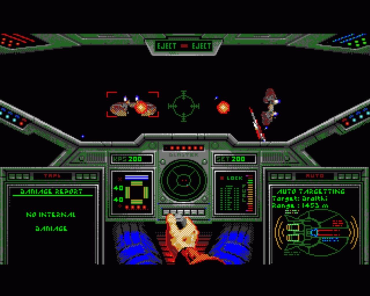 Unglaublich aber endlich war: da Ur-VGA/386er-Wing Commander auf dem A500