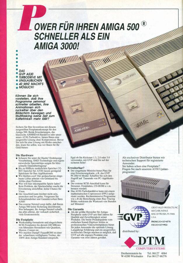 Die GVP A530 Turbo für den Commodore Amiga 500 (Quelle: Amiga Resource)