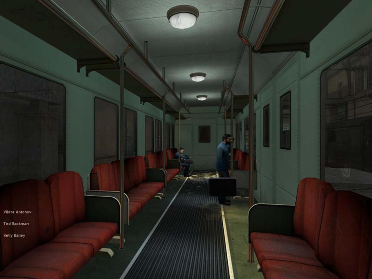 Anfangssequenz aus Half-Life 2. Das Spiel beginnt mit der Einfahrt in den Bahnhof von City 17. (Bild: Valve)