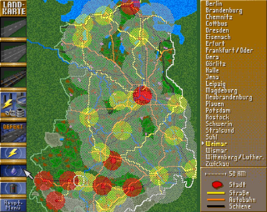 Die Übersichtskarte zeigt aktuelle Problemstellen. (Bild: Sunflowers)