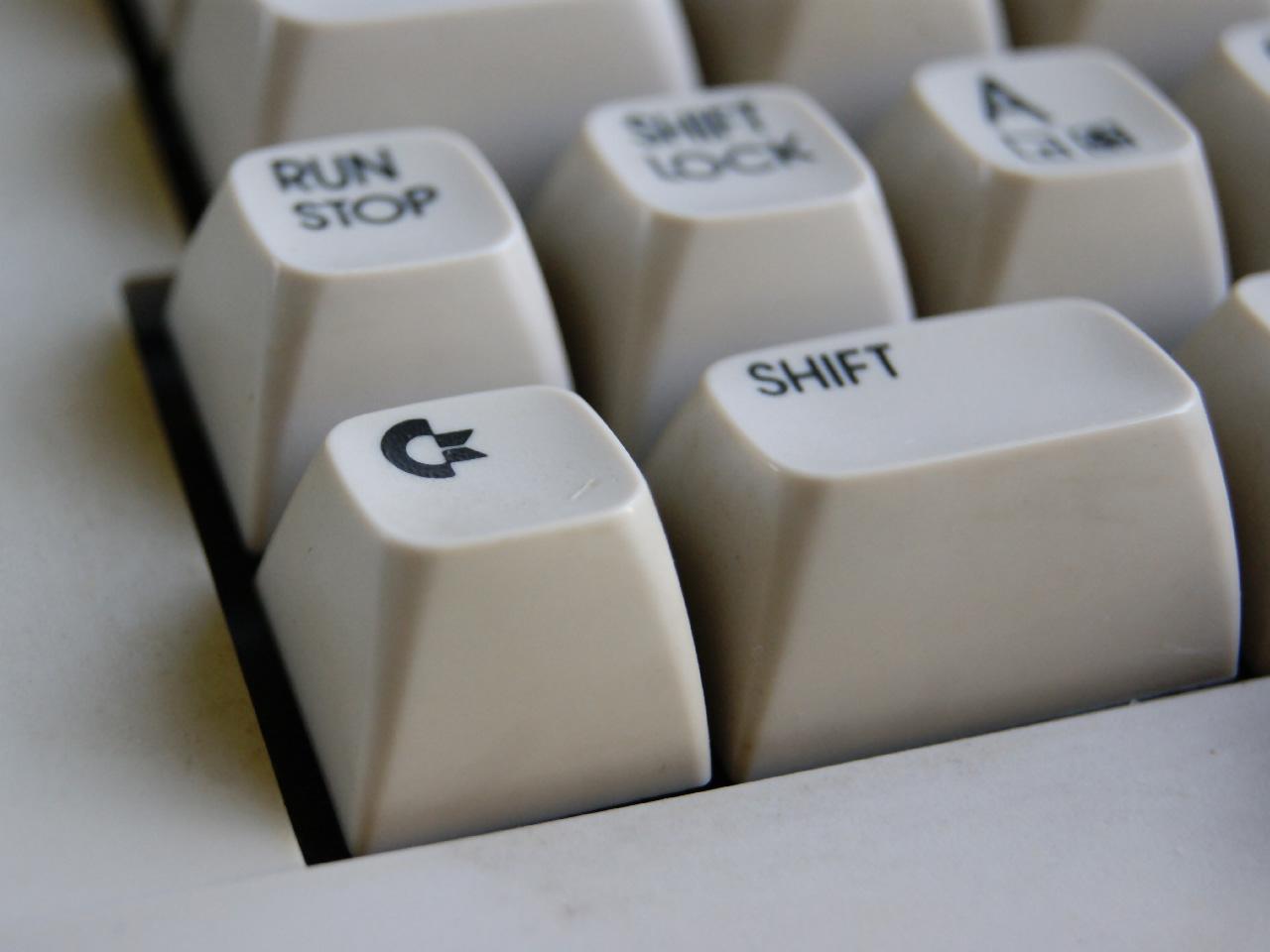 Ein Detail der legendären Tastatur des C64. (Bild: Leopold Brodecky)