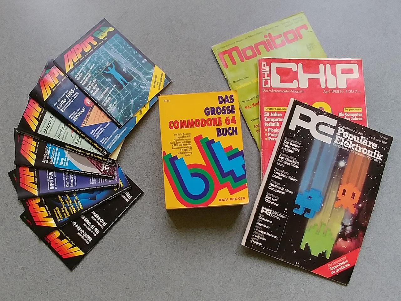 """Das Taschengeld wurde zum Teil für diverse Magazine und auch Fachbücher, wie """"Das große Commodore 64 Buch"""" ausgegeben. (Bild: Leopold Brodecky)"""