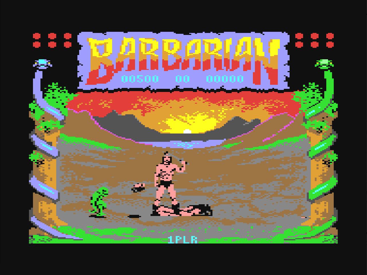 Nicht alle Spiele waren für Kinder geeignet. Manche wurden wegen ihrer Gewaltdarstellung, manche aufgrund der Thematik von meinen besorgten Eltern beschlagnahmt. (Screenshot: Barbarian – The ultimate Warrior)