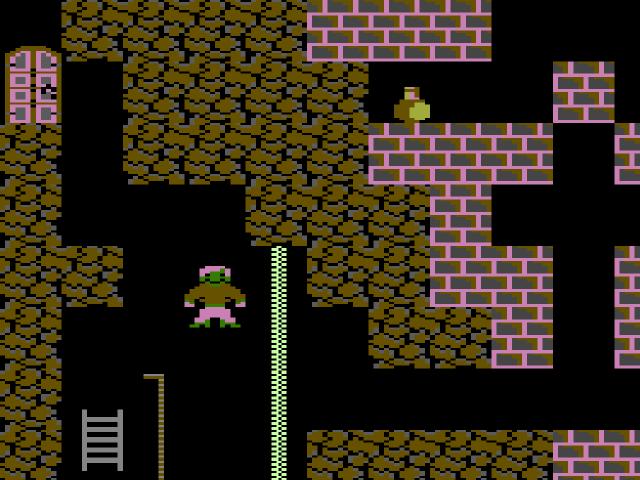 Screenshot von Ghost Town auf dem Commodore 16. (Bild: Ingo Hinterding)