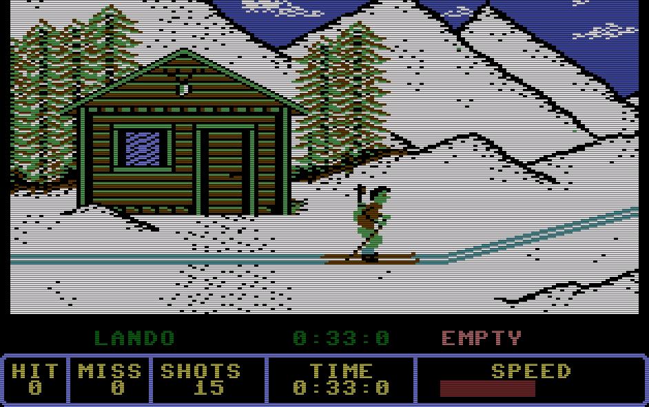 Kingsofts Winter Olympiade von 1986 ist eine erstklassige Umsetzung des Sportthemas auf dem C16. (Bild: Kingsoft)