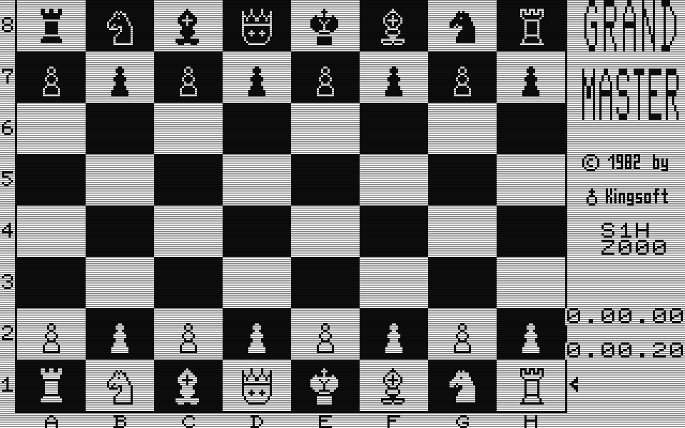Grandmaster war 1982 das Computerspieledebut von Kingsoft. (Bild: Kingsoft)