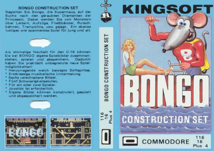 Supermaus mal zwei: das Jump and Run Spiel Bongo Construction Set wartet mit einem Kassettenmotiv auf, das mit nicht mehr so schnell vergisst. (Bild: Kingsoft)