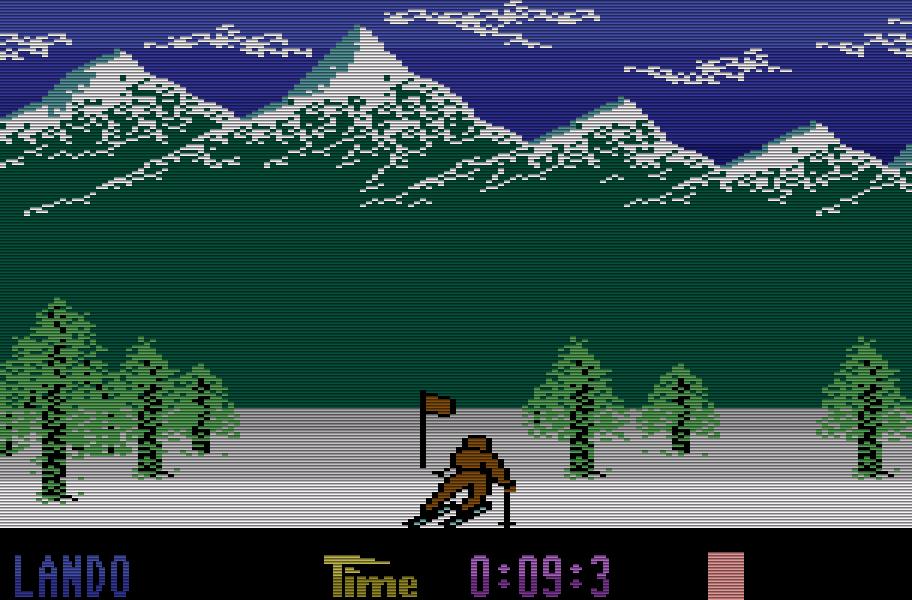 Das Sportspiel Winter Olympiade wurde 1986 Bestes Spiel für den C16. (Bild: Kingsoft)