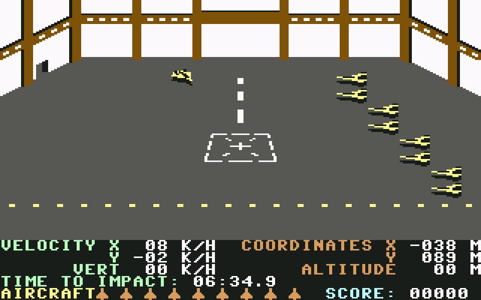 Mit dem Kampfjet durch den Hangar. (Bild: Access Software)