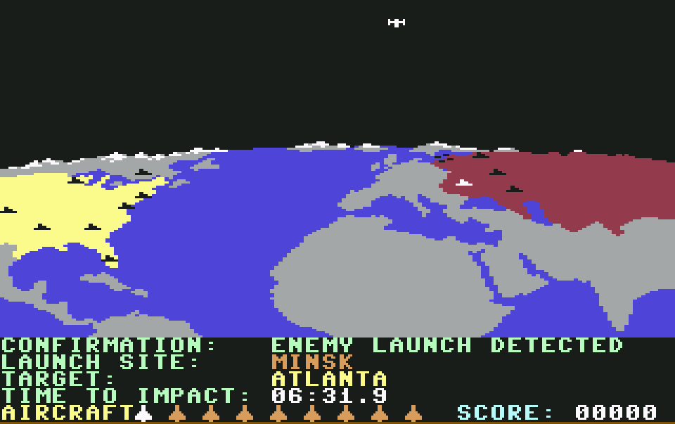 Enemy launch detected - Target: Atlanta. (Bild: Access Software)