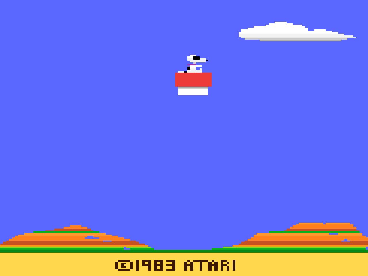 Snoopy auf Entspannungsflug. (Bild: Atari)