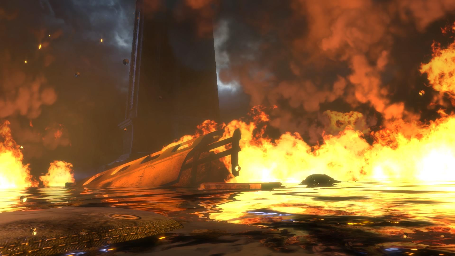 Abperlende Tropfen auf der Kameralinse sollen der Involvierung des Spielers dienen.Tatsächlich sollten sie aber eher mit der Identifikation des Spielers mit dem Avatar brechen.