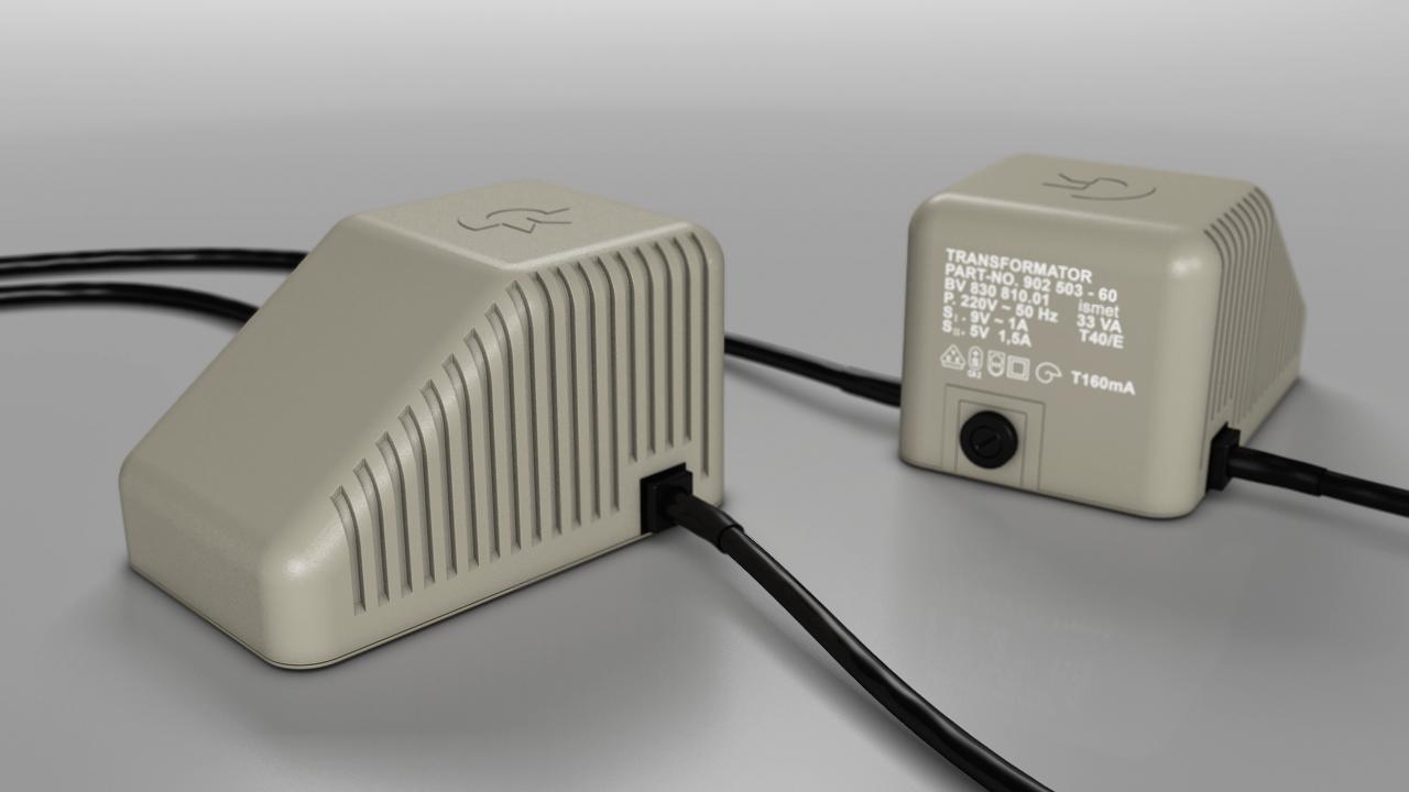 Das keilförmige Netzteil des C64 war recht anfällig. Meins hat  nicht überlebt. (Bild: René Achter)