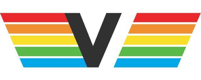 Die klare Linien- und Formgebung fügt sich kontrastreich in das stilisierte V ein. Die Regenbogenfarben kamen in Videospielen häufig zum Einsatz, so dass das Logo angenehm vertraut wirkt. (Bild: mazeon)