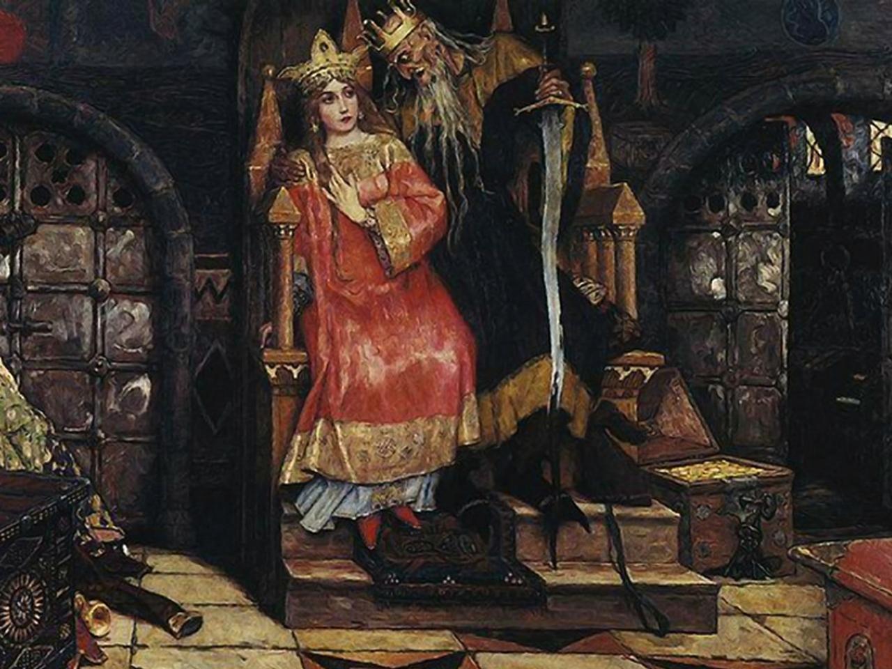 """""""Koschtschei der Unsterbliche"""" von Wiktor Wasnezow. (Bild: Wikipedia)"""