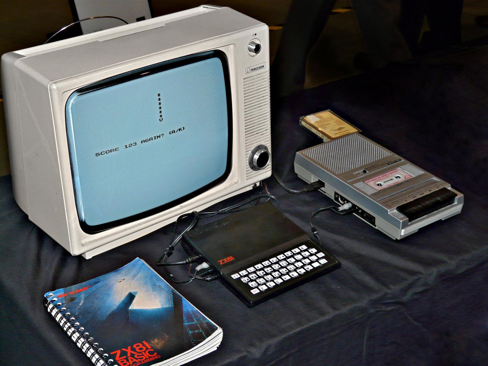 Ein typisches ZX81-Setup 1982. (Bild: Mike Cattell)