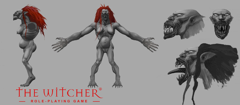 Konzeptzeichnung zur Striege in The Witcher 1 (Bild: http://hexer.wikia.com/wiki/Datei:StriegeConcept.jpg)